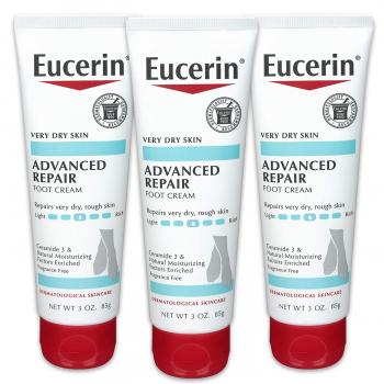 Eucerin 皮肤修复护足霜3支