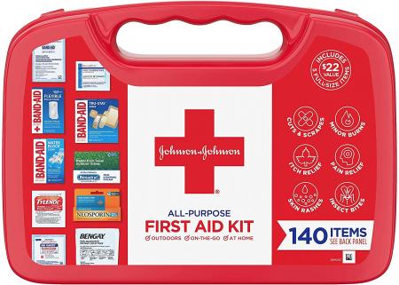 Johnson & Johnson 便携急救箱,140件,现仅售$11.97