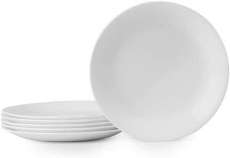 Corelle Winter Frost白色陶瓷午餐盘六件套