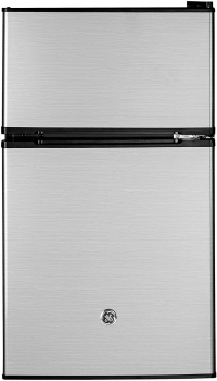 GE 3.1立方英尺 立式不锈钢双门冰箱