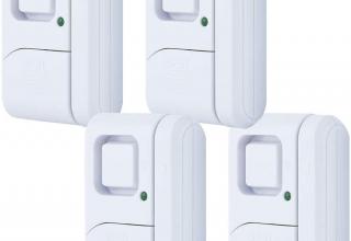 GE个人安全门窗报警器,4件装