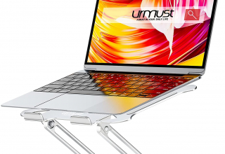 Urmust人体工学铝制可折叠笔记本电脑支架,