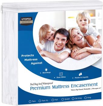 Utopia Bedding 防过敏柔软防水床垫保护套