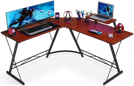 Coleshome L形转角办公桌带支架