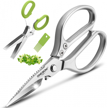 ONEBOM 不锈钢厨房剪刀2件套