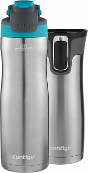 Contigo不锈钢运动保温杯20 oz款 + Autoseal West Loop 16oz不锈钢旅行保温水杯 套装