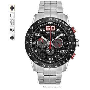 Citizen 西铁城光动能 男士手表,原价$296.25,现售$162.99