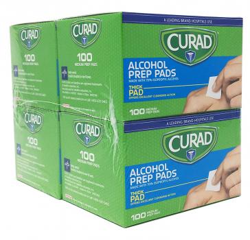 Curad 酒精清洁棉片,400片,原价$9.98,现价$4.49